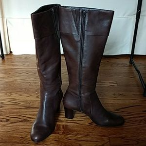 Talbots Brown Leather Boots Size 8
